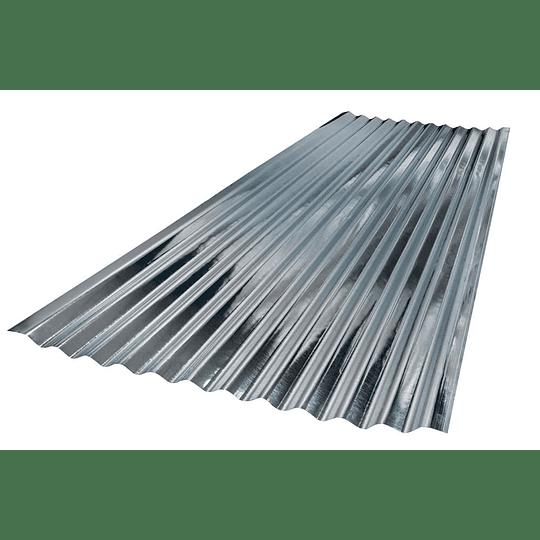 Teja De Zinc 0.80X3.048 Mts Calibre 35 (0.20Mm) Acesco