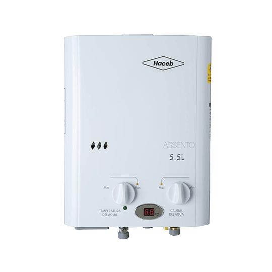 Calentador Haceb A Gas Natural De Paso 5.5 Litros Blanco