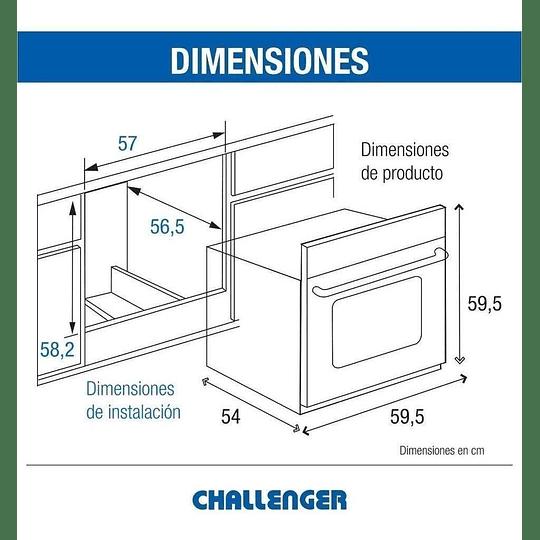 Horno Challenger Mixto Hg 2560 Negro