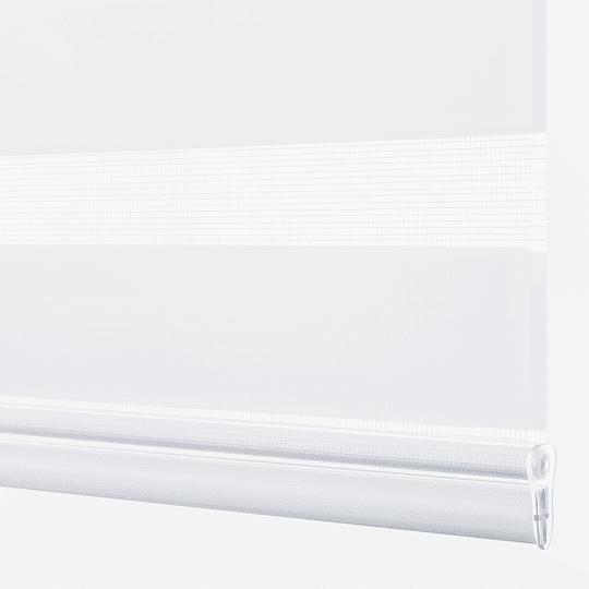 Cortina Enrollable Roller Duo Alabaster (Blanco) Sunflex 1.80 mts largo