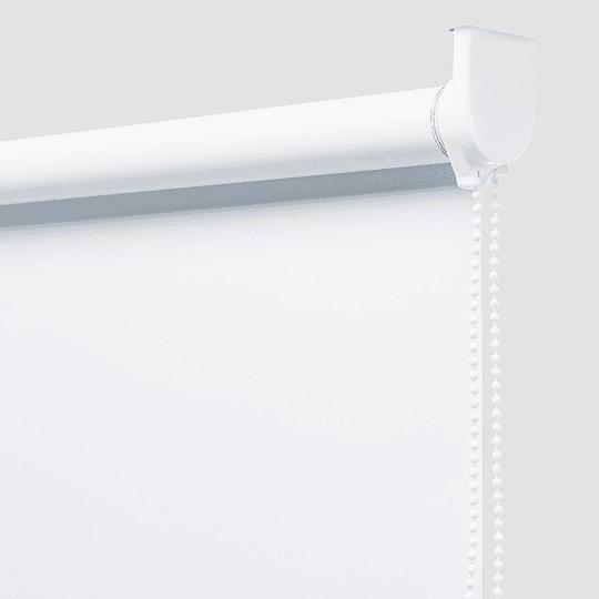 Cortina Enrollable Blackout Blanco Sunflex 1.80 mts largo