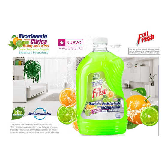 Desinfectante  3785CC C/Bicarbonato Full Fresh