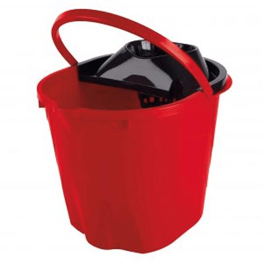 Balde Rojo 12L C/Exprimidor Full Fresh