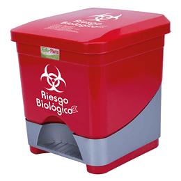 Papelera Pedal Cuadrada Rojo 20 Lts Fuller Pinto
