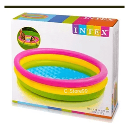 Piscina Inflable Redonda 3 Aros 1.14m x 25cm Intex