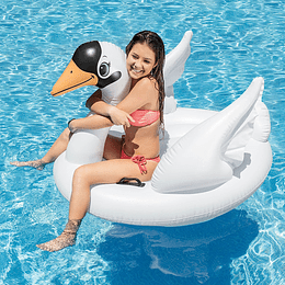 Flotador Inflable Tipo Cisne Blanco Intex