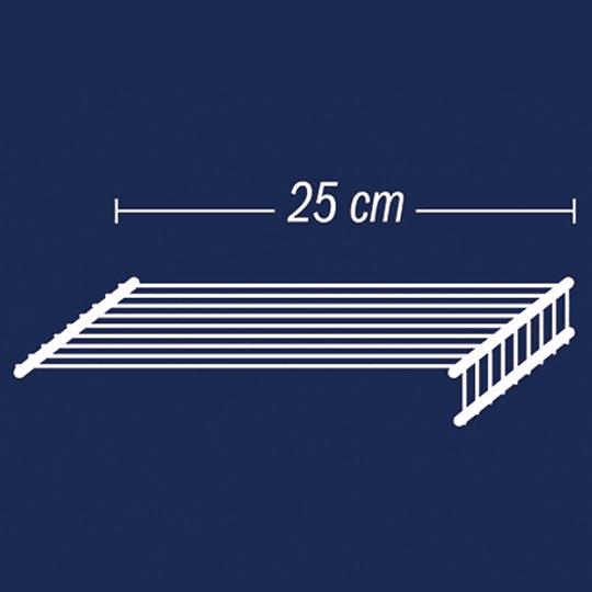 Entrepaño de 25x60 Blanco Rejiplas