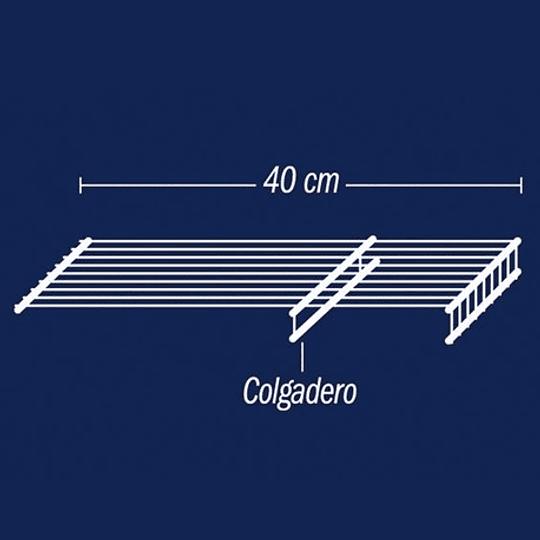 Entrepaño Colgadero 40 X 120 cm Blanco Rejiplas