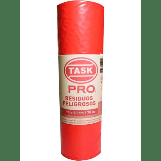 Bolsa de Basura Rojo Rollo x 10 Unidades Task