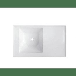 Lavaropa Pro 100X60 Izquierdo Brillat Blanco Flauta