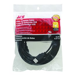 Cable De Extension Usb 15Ft  4.57 Mts  Ace