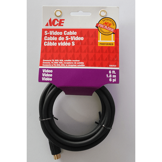 Cable De Video 6 Ft 1.82 Mts Ace