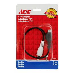 "Cable Yee  Audio 2 Rca 6"" 15.24 Cm  Ace"