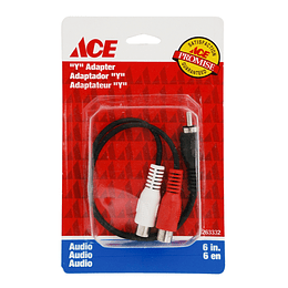 "Cable En Yee Para Audio 2 Rca Jacks 6""  15.24Cm Ace"