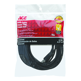 Cable Usb 15Ft  4.57 Mts  Ace