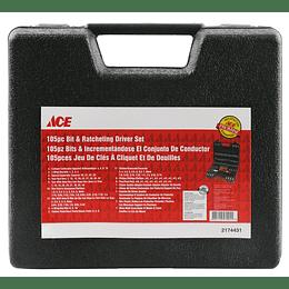 Destornillador Jg 105 Piezas Ace (Dados-Puntas)