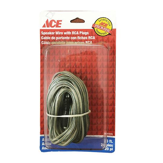Cable De Parlantes Rca Plugs 20Ft 6.09 Mts Ace
