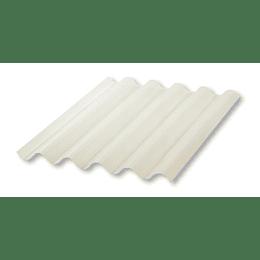 Teja Ajover Ajonit PVC Marfil Translúcida de 2,44 Metros