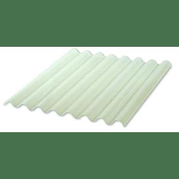 Teja Ajover Rural PVC Marfil Translúcida de 1,2 Metros