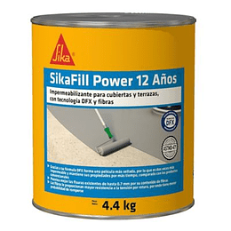 Sikafill Power 12 Años Gris de 4.4 Kg