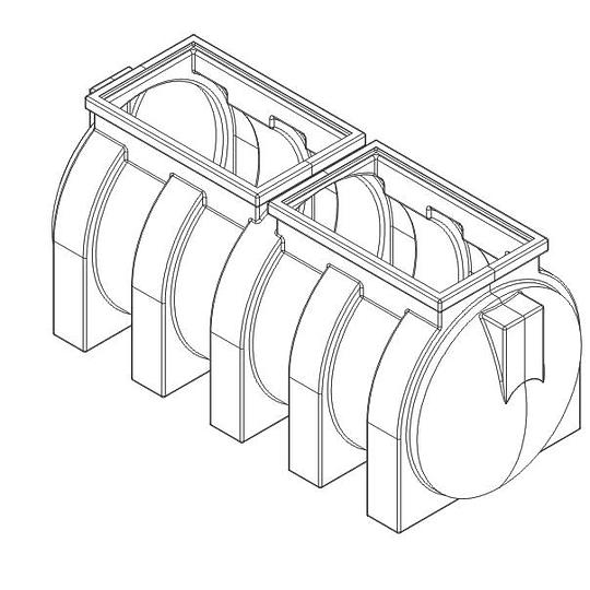 Septilisto Sistema Séptico Integrado de 1650 Litros