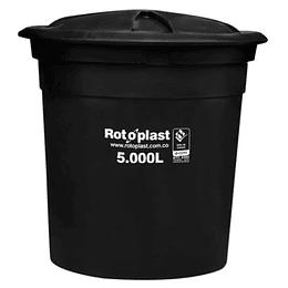 Tanque Rotoplast Negro de 5.000 Litros