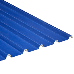 Teja Azul-Blanca UPVC Forte de 2mm por 5.9 x 0.94 Metros