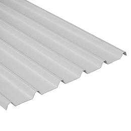 Teja Blanco-Blanco UPVC Forte de 2mm por 5.9 x 0.94 Metros