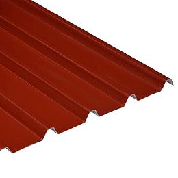 Teja Rojo-Blanco UPVC Forte de 2mm por 5.9 x 0.94 Metros