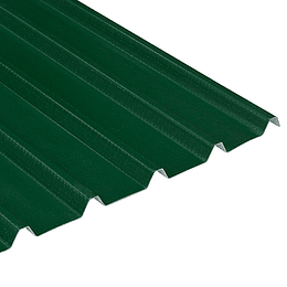 Teja Verde-Blanco UPVC Forte de 2mm por 5.9 x 0.94 Metros