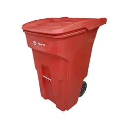 Contenedor de Basura Rojo de 360 Litros