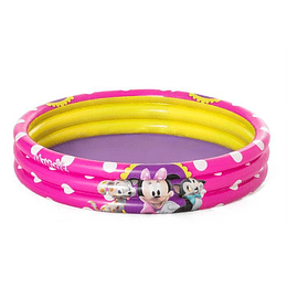 Piscina Inflable Redonda 3 Anillos Minnie Mouse Marca Bestway
