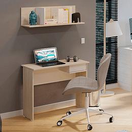 Mix escritorio sencillo con un cajón con puerta abatible