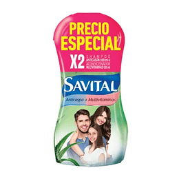 Promo Shampoo Savital Anticaspa 550 Ml + Acondicionador 530 Ml