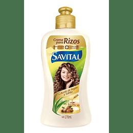 Crema Peinar Savital Rizos Argán 270 Ml
