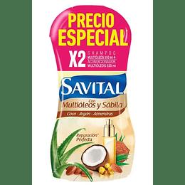 Promo Shampoo Savital Multioleo 550 Ml + Acondicionador 530 Ml