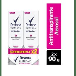 Desodorante Rexona Clinical Classic Women Aerosol x 2Un x 90g