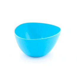 Bowl Triangular Plástico Azul 290 ml