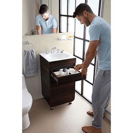 Combo Mueble Aluvia Habano a Piso con Lavamanos de 45 x 45 cm