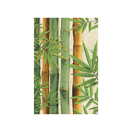 Mural Bambú Multicolor 3 Piezas Cara Única 30 x 60 cm