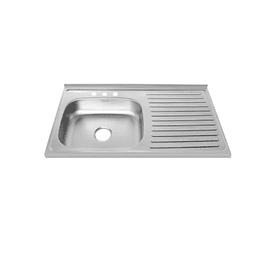 Lavaplatos Mesón Vital Basic 100 X 52 Izquierdo Con Mezclador