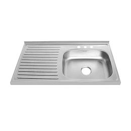 Lavaplatos Mesón Vital Basic 100X52 Derecho Con Mezclador