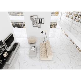 Porcelanato Esmaltado Brillo Pulido Domus Blanco 60 x 120