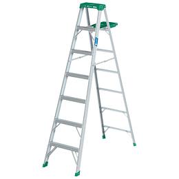 Escalera Tijera Aluminio T2 Con Banco 6 Peldaños 1.73 Mt