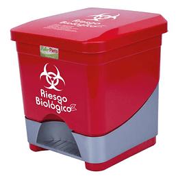 Caneca Pedal Color Rojo 20 Lts