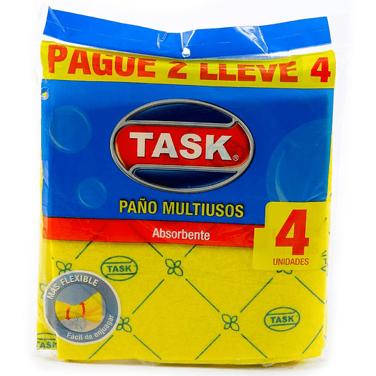Paño Absorbente Multiusos Pague 2 Lleve 4