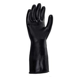 Guante Plastico Industrial Negro C.35