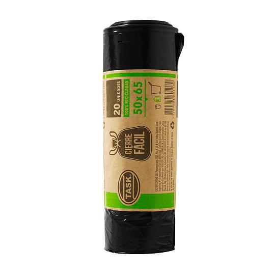 Bolsa Basura Biodegradable de Cierre Fácil