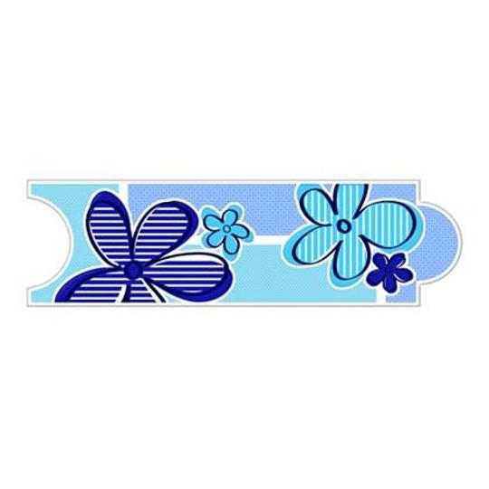Listello para Baño Flores 8 x 25 cm