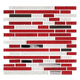 Mosaico Cuarzo Rojo